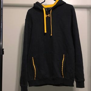 Under Armour Storm Yellow And Black Hoodie